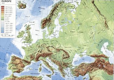 Cartina Fisica Europa Orientale.Materiale Didattico